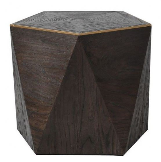 Geo Hexagon End Table - Special Order